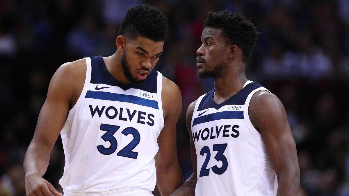 Karl-Anthony Towns et Jimmy Butler (Minnesota Timberwolves)