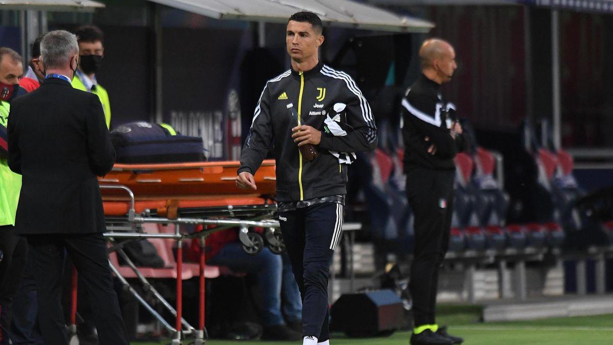 Cristiano Ronaldo saß im letzten Spiel der Serie A nur auf der Bank