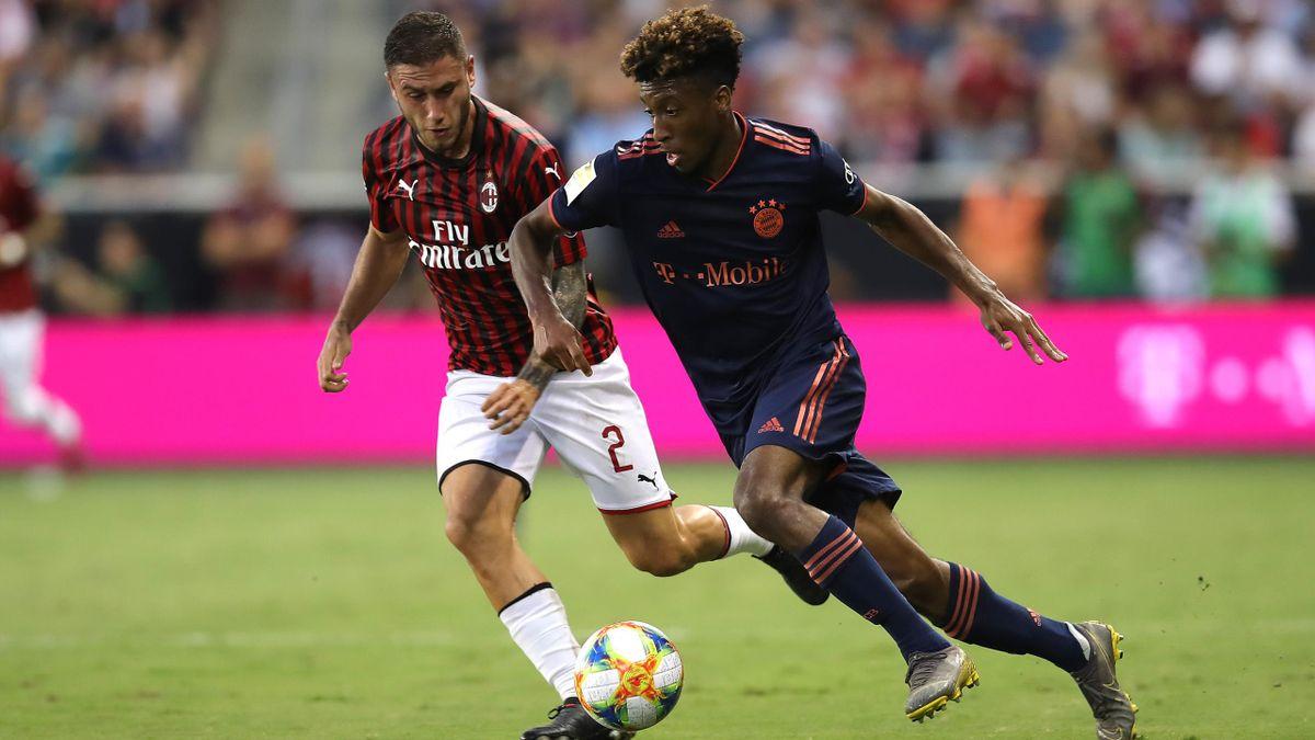 Kingsley Coman (FC Bayern) gegen AC Mailand