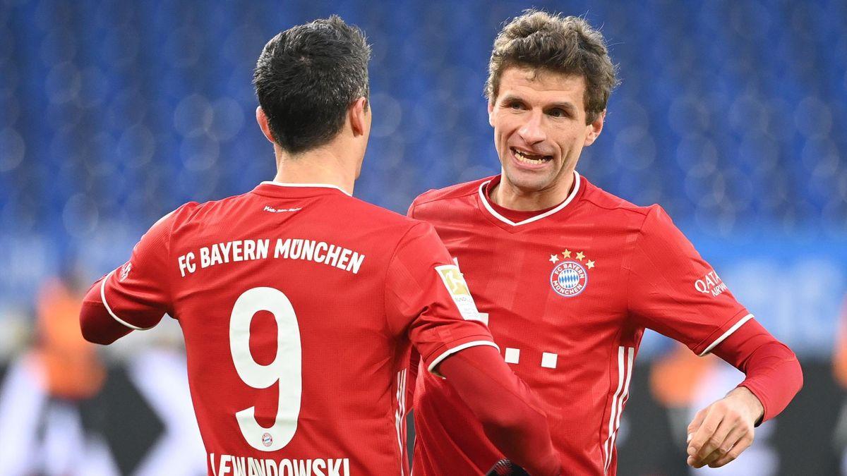 Robert Lewandowski und Thomas Müller - FC Bayern München