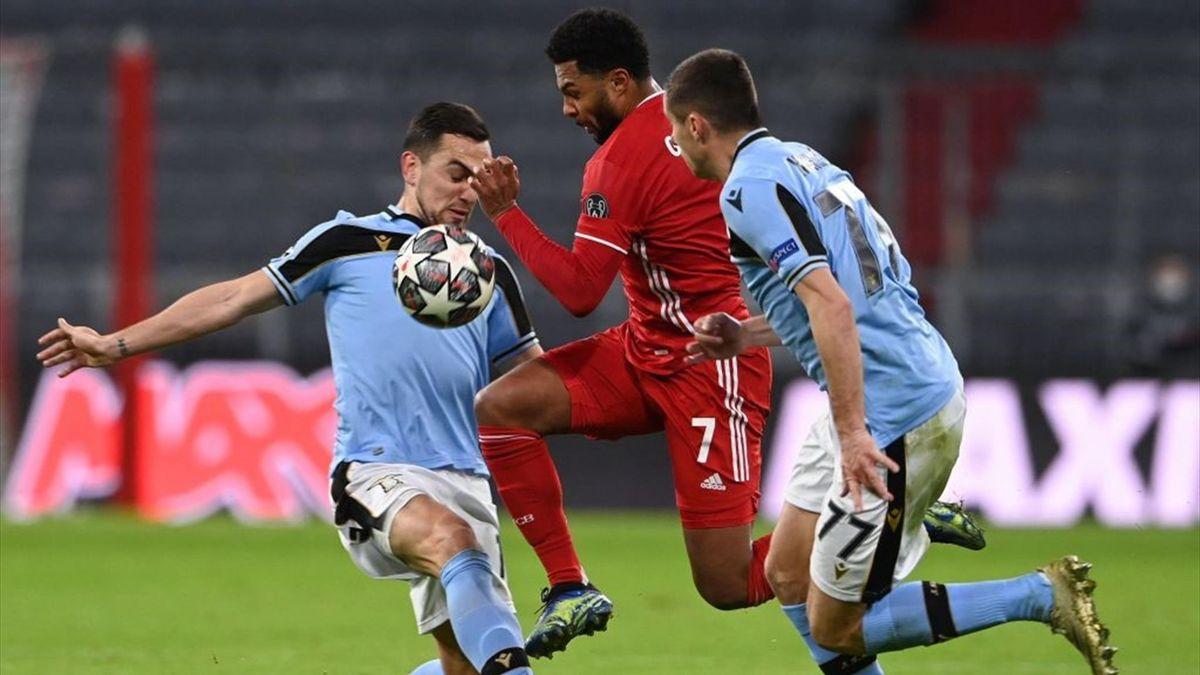 Bayerns Serge Gnabry ist von Lazio nicht zu stoppen