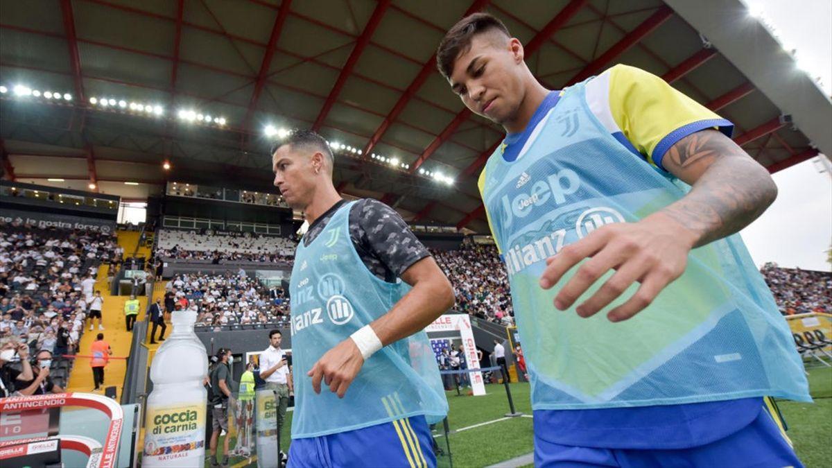 Cristiano Ronaldo e Kaio Jorge - Udinese-Juventus - Serie A 2021-2022
