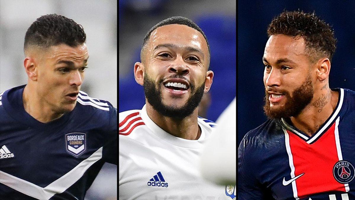 Hatem Ben Arfa, Memphis Depay, Neymar - Ligue 1
