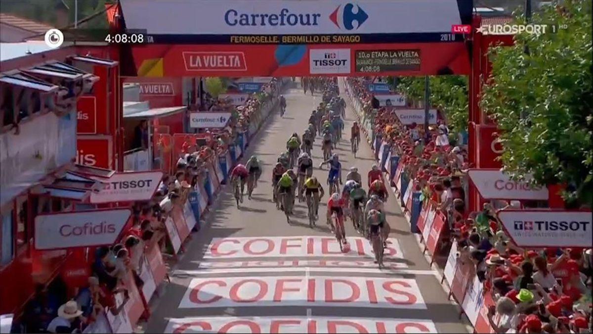 Elia Viviani, La Vuelta 2018, 10th stage