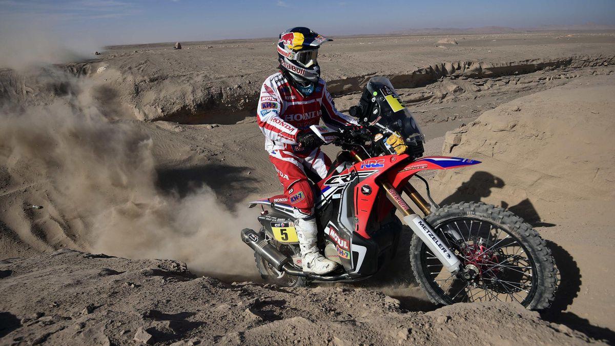 Helder Rodrigues (Honda) on Dakar stage 6, on January 9th, 2015