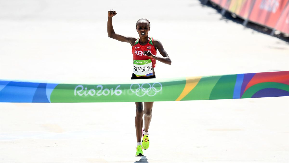 Sumgong wint goud in Rio