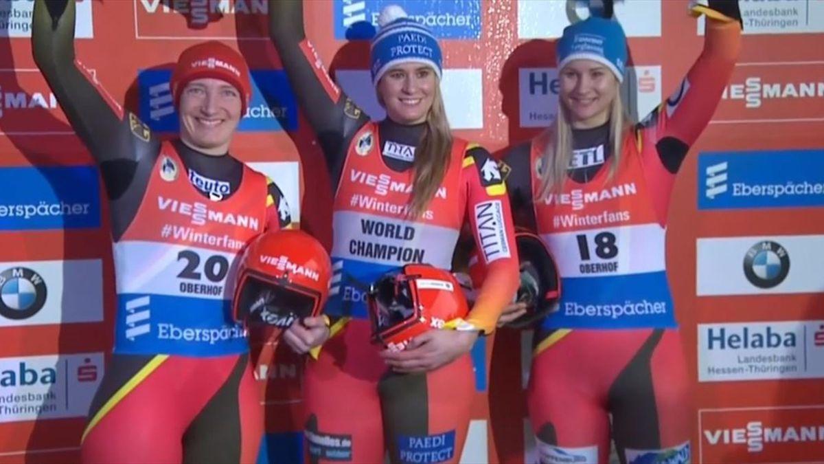 Natalie Geisenberger led a German clean sweep