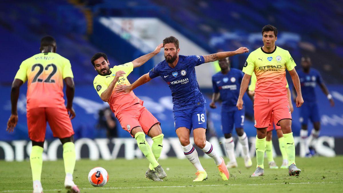 Olivier Giroud lors de Chelsea-Manchester City / Premier League