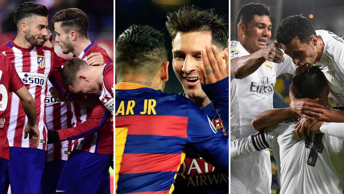 Wer holt den Titel in Spanien: Atlético Madrid, FC Barcelona oder Real Madrid?