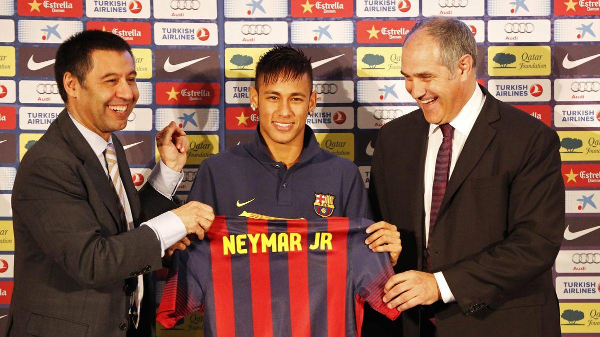 Josep Maria Bartomeu und Neymar