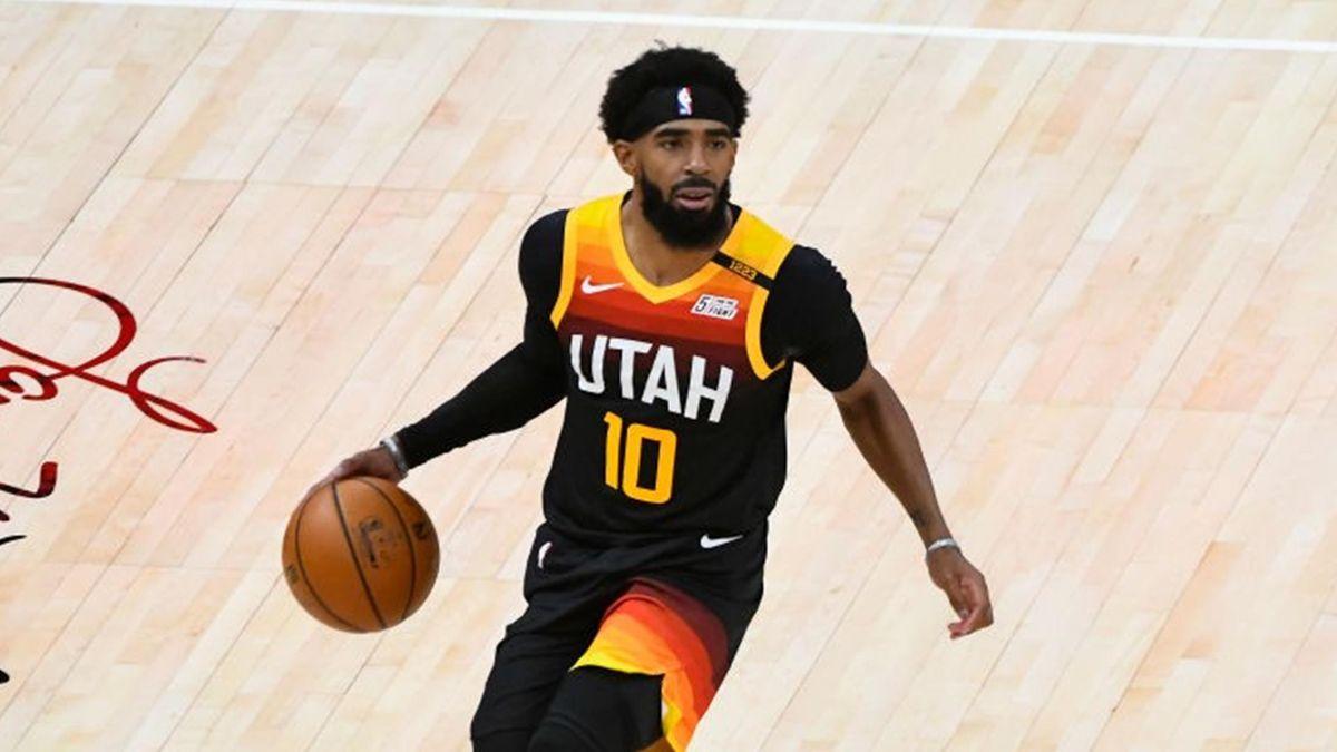 Mike Conley lors de Utah - Dallas en NBA le 29 janvier 2021