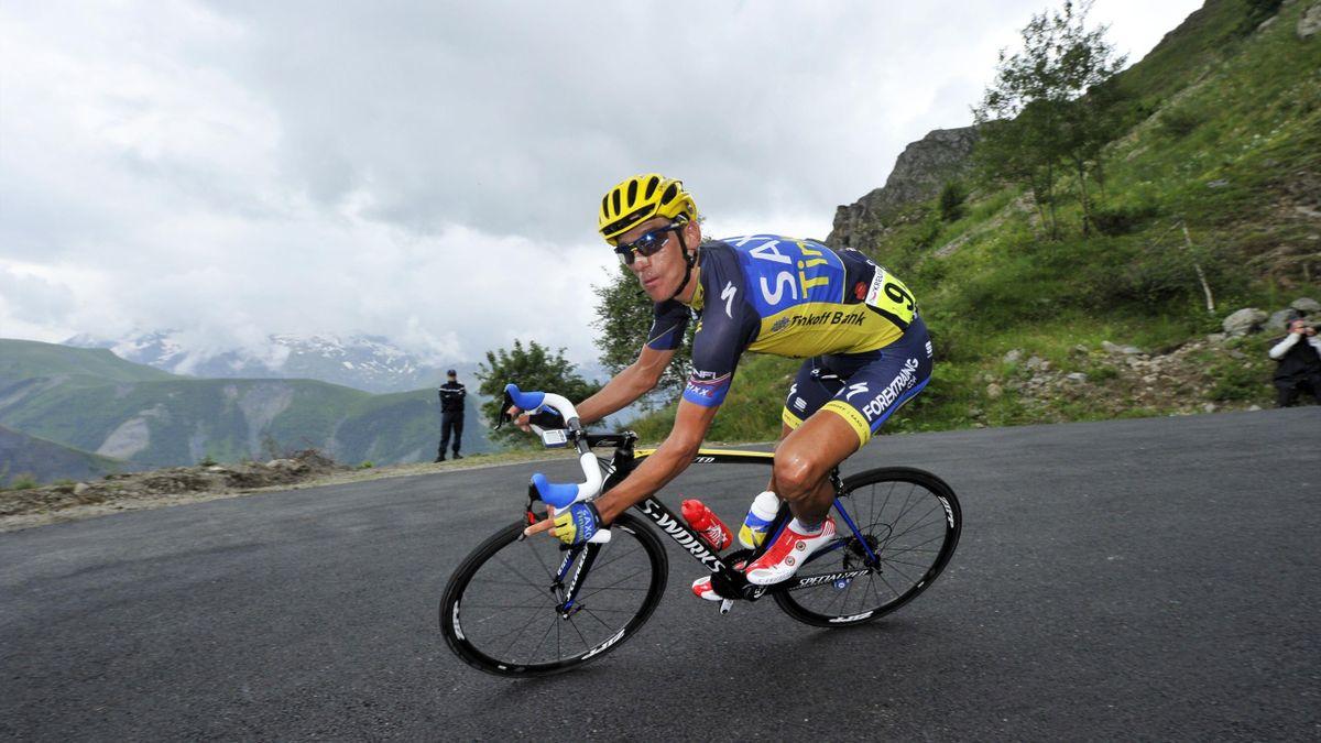 Romain Kreuziger (Team Saxobank), lors du Tour de France 2013.