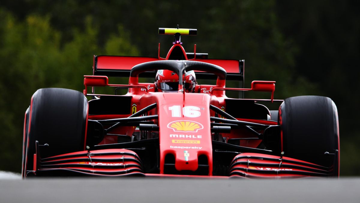 Charles Leclerc (Ferrari) lors du Grand Prix de Belgique 2020