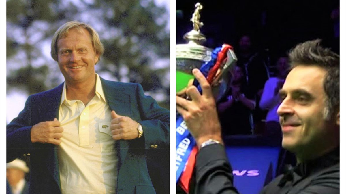 Jack Nicklaus and Ronnie O'Sullivan still on top in their 40s.