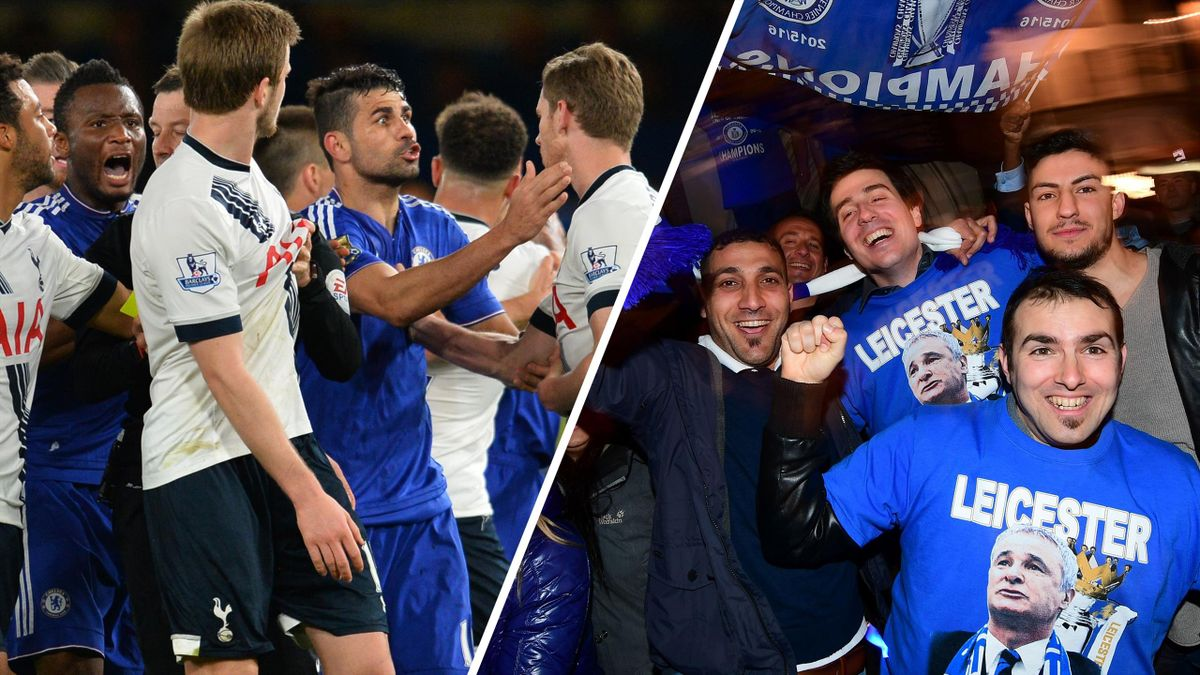 Leicester win title after fiery Chelsea 2-2 Tottenham draw