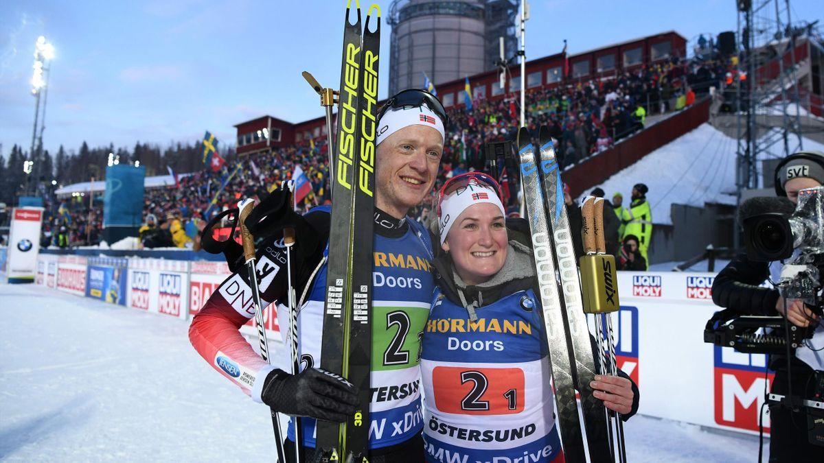 Johannes Thingnes Bø og Marte Olsbu Røiseland
