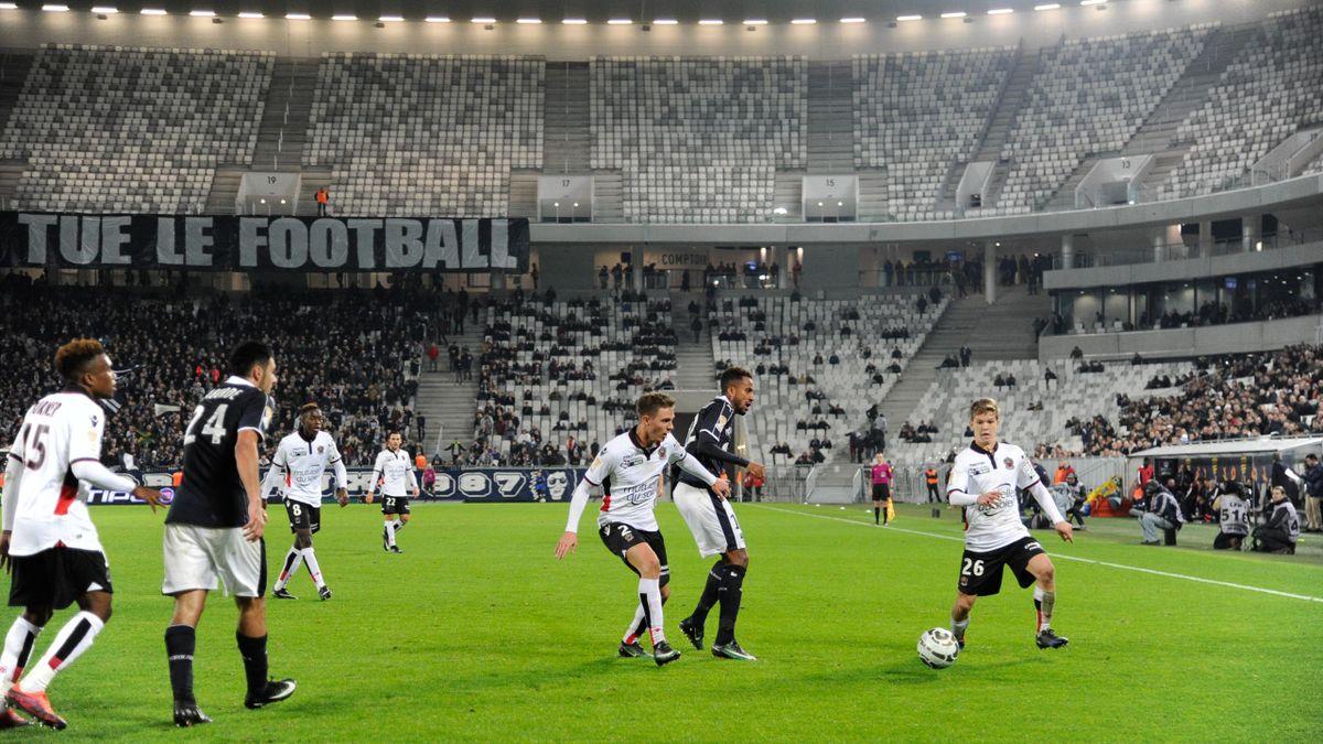 Bordeaux-Nice en Coupe de la Ligue, le 14 décembre 2016 au Matmut Atlantique.