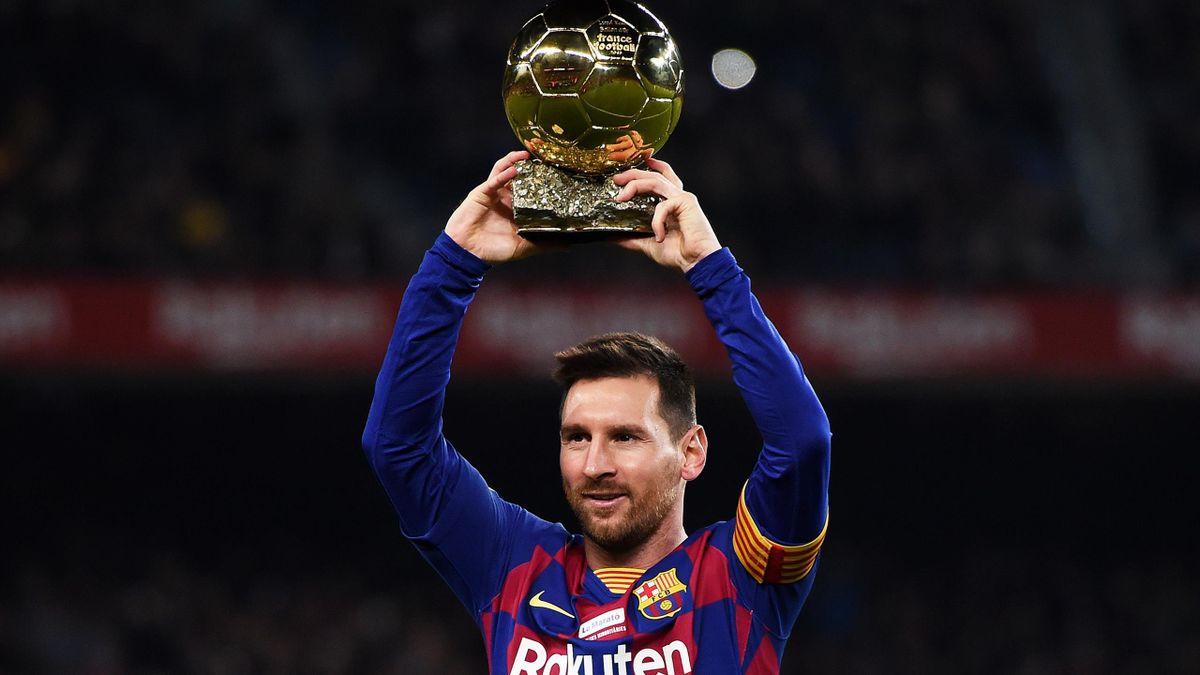 Lionel Messi, la légende du FC Barcelone avec son sixième Ballon d'Or.