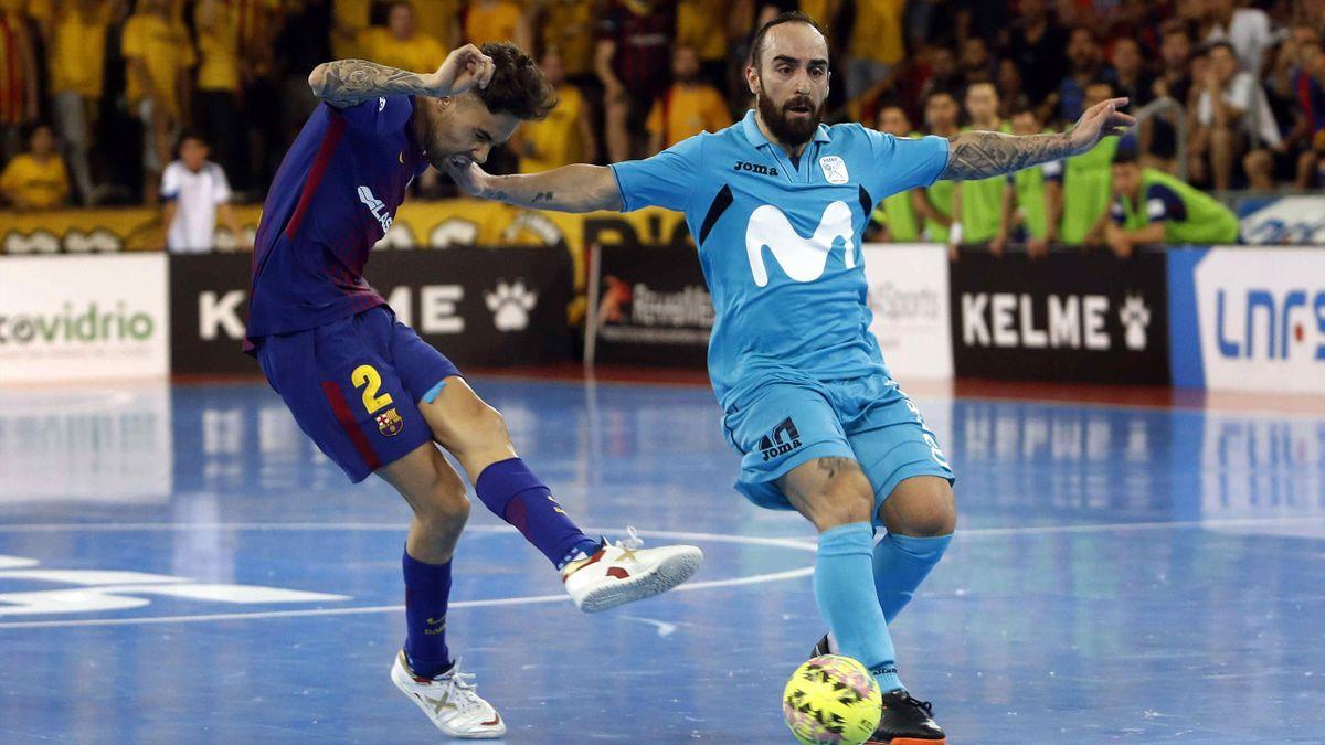 Aicardo y Ricardinho, FC Barcelona Lassa y Movistar Inter