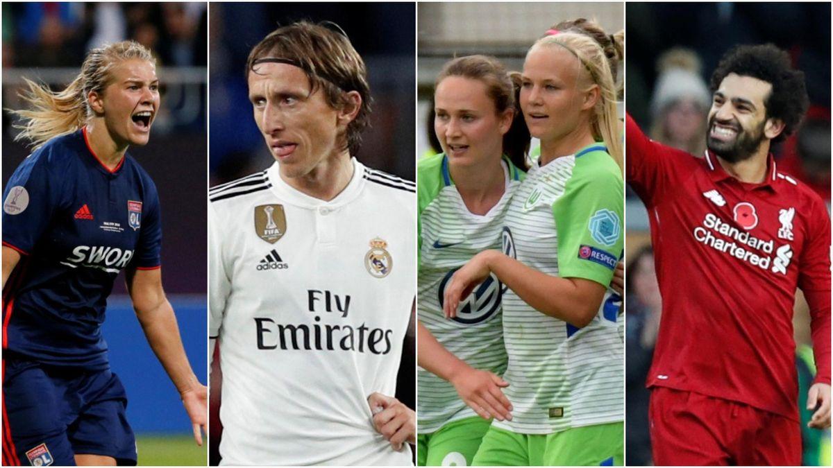 Hegerberg, Modric, Harder, Salah