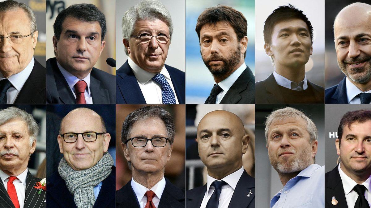 Les douze présidents à l'origine de la Super Ligue
