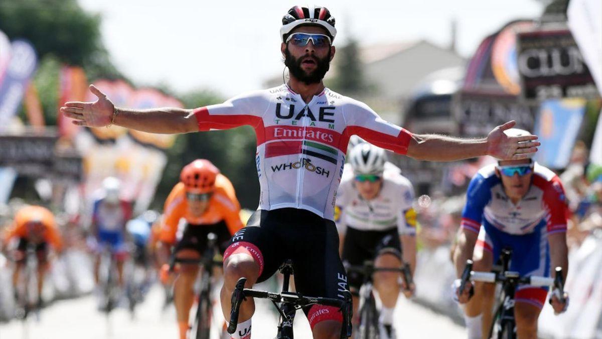 Fernando Gaviria (UAE Team Emirates) gewinnt die 2. Etappe der Burgos-Rundfahrt
