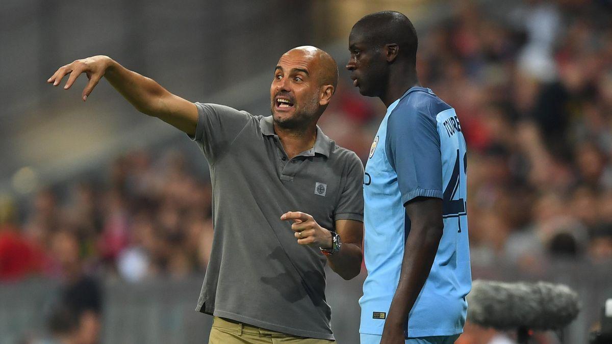 Pep Guardiola Yaya Touré Manchester City