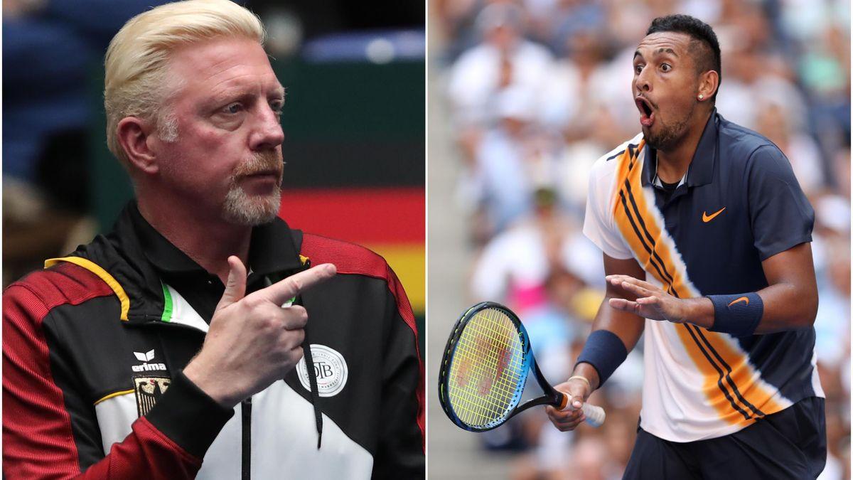 Boris Becker and Nick Kyrgios