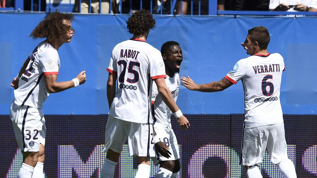 Adrien Rabiot, Serge Aurier, Marco Verratti et David Luiz - PSG 2015