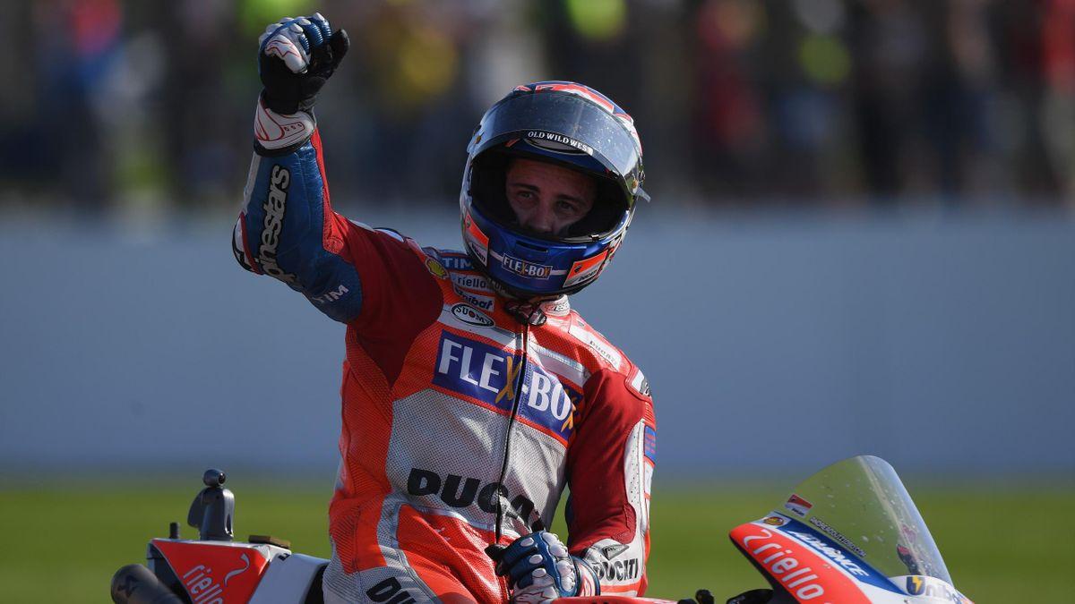 Andrea Dovizioso (Ducati Team), vainqueur du Grand Prix de Grande-Bretagne 2017