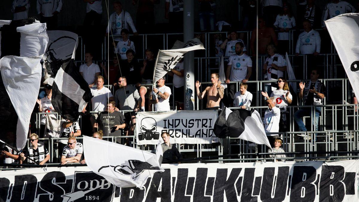 Odd-supportere på Skagerak Arena i 2019