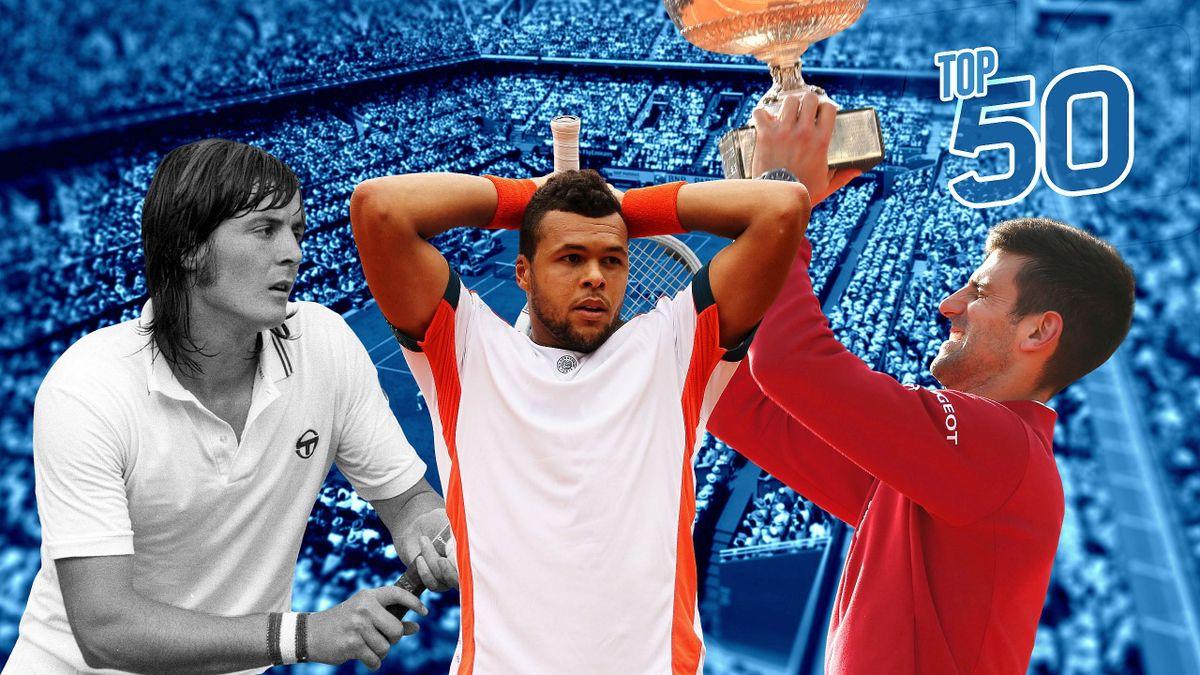 L Top 50 des matches marquants de Roland-Garros.