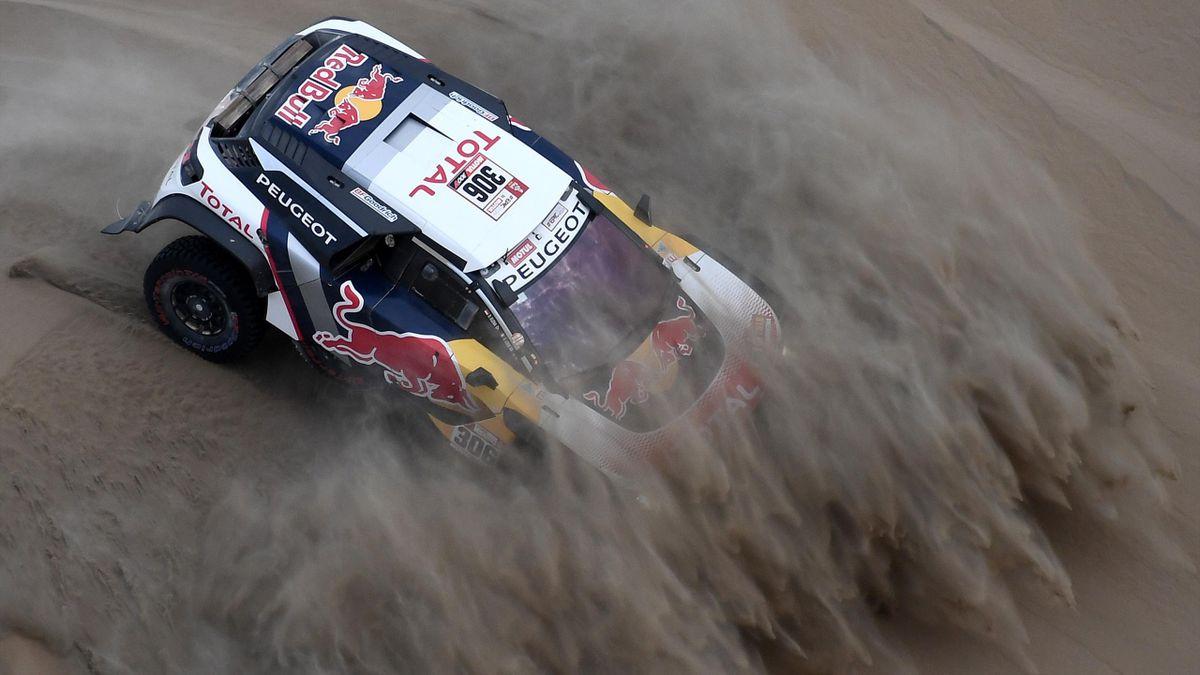 Sébastien Loeb pendant le Dakar 2018.