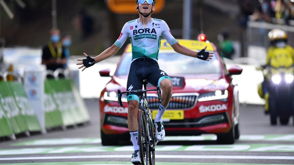 Tour De France: Lennard Kamna wins stage 16 (finish