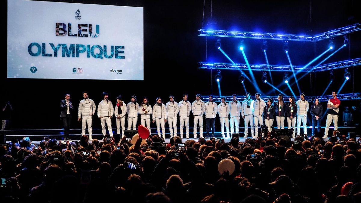 Les médaillés français célébrés à Grenoble lundi 26 février 2018.