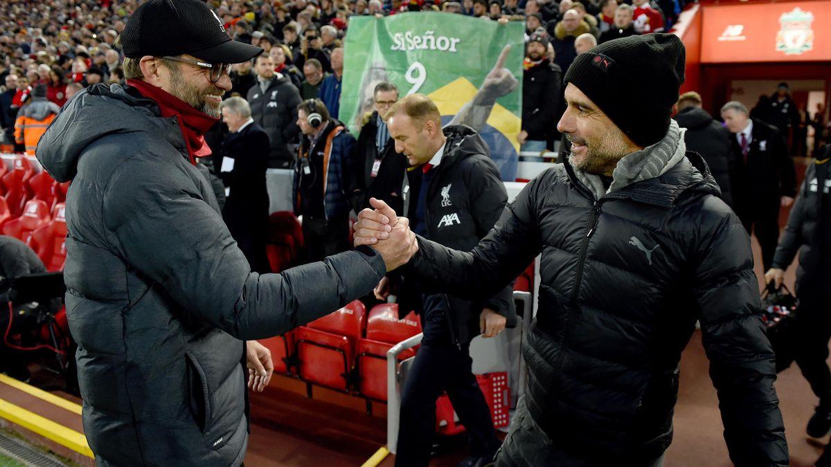 Pep Guardiola (rechts) und Jürgen Klopp.