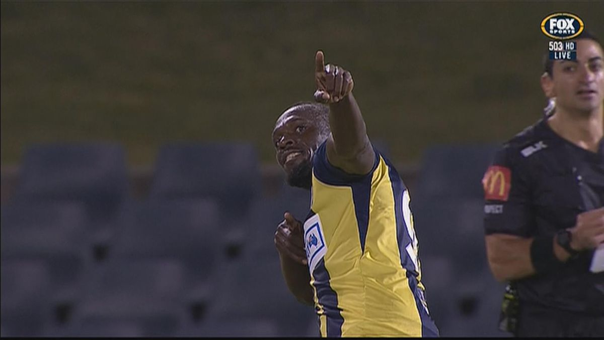 Bolt scored twice with for his debut at Central Coast Marniers