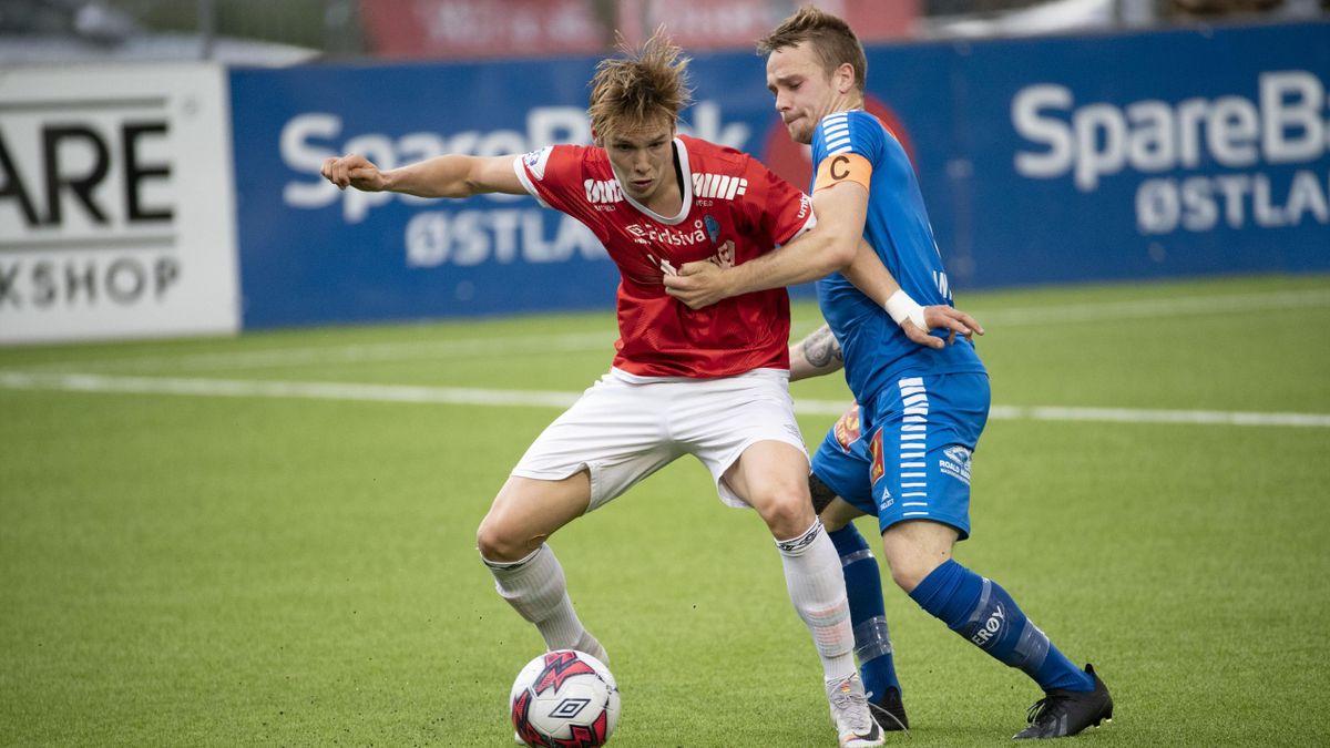 Markus Myre Aanesland har spilt sin siste kamp for Kongsvinger. Nå skal han vise seg fram for seriemester Bodø/Glimt.