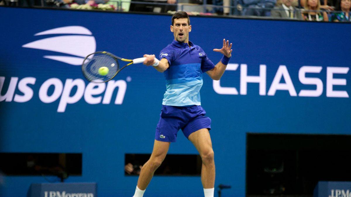 Novak Djokovic bei den US Open 2021
