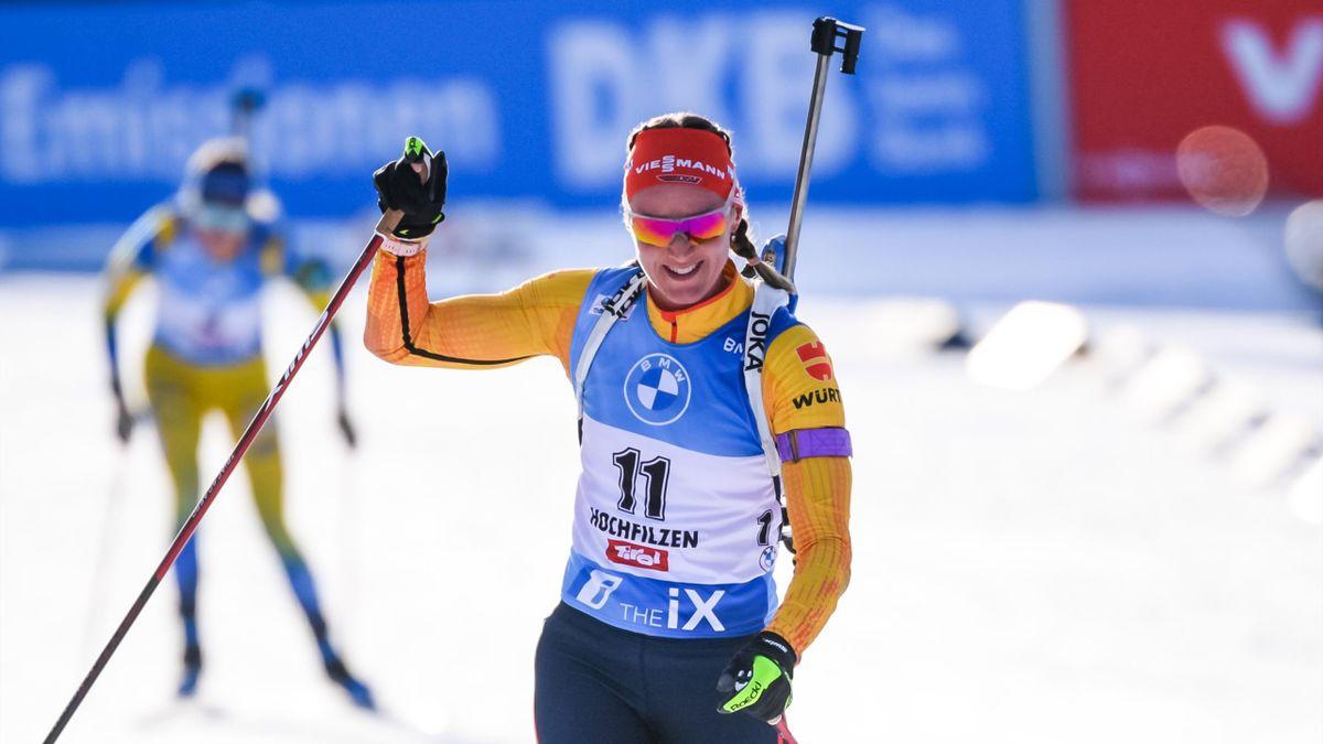 Denise Herrmann hofft auf eine Leistungssteigerung bei der Biathlon-WM
