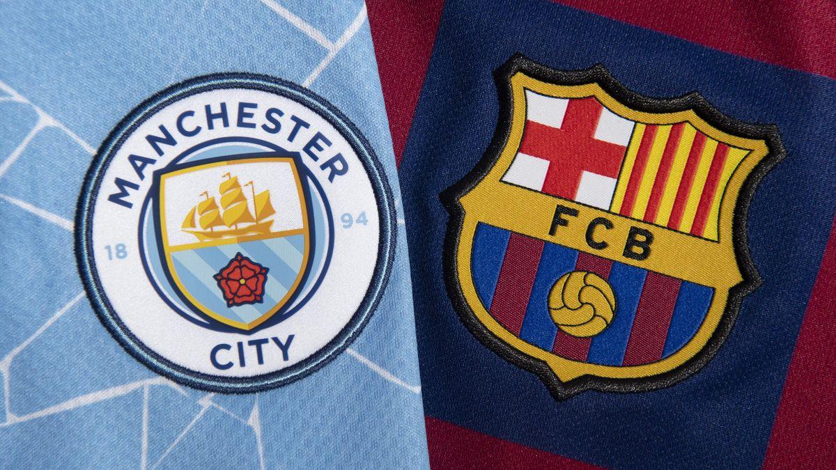 Teil der Super League: Manchester City und der FC Barcelona