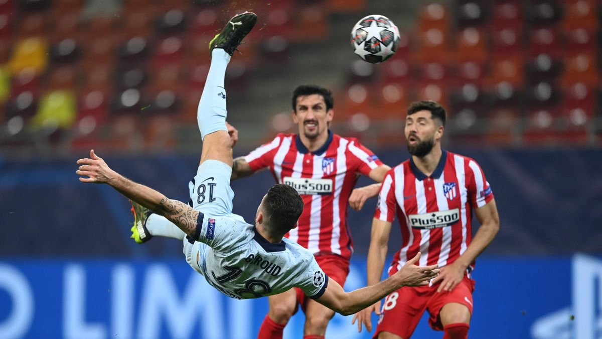 Olivier Giroud (FC Chelsea) im Spiel gegen Atlético Madrid