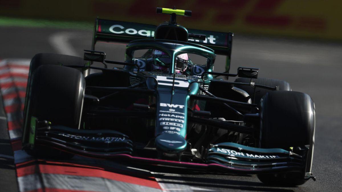 Sebastian Vettel (Aston Martin) in Baku