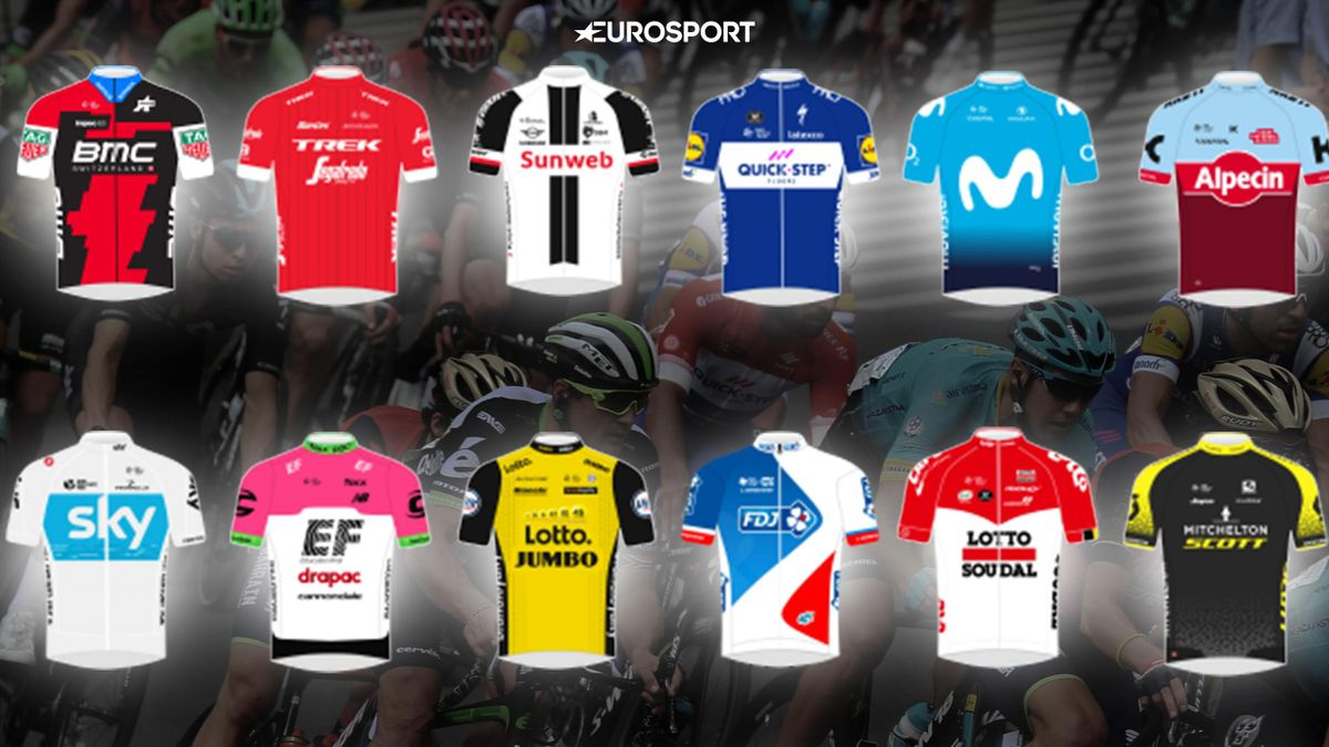 2018 WorldTour kits and jerseys