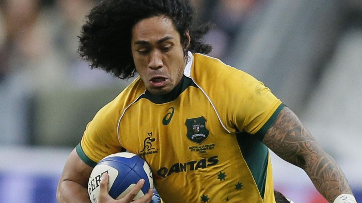 Joe Tomane of Australia in action