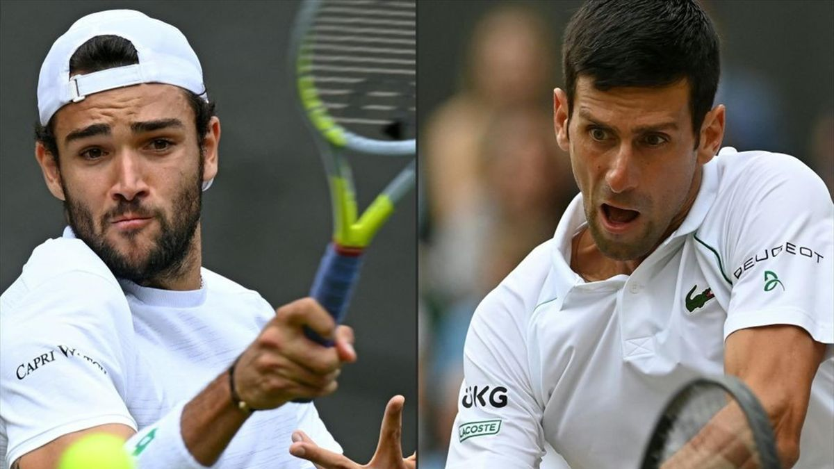 Matteo Berrettini és Novak Djokovic