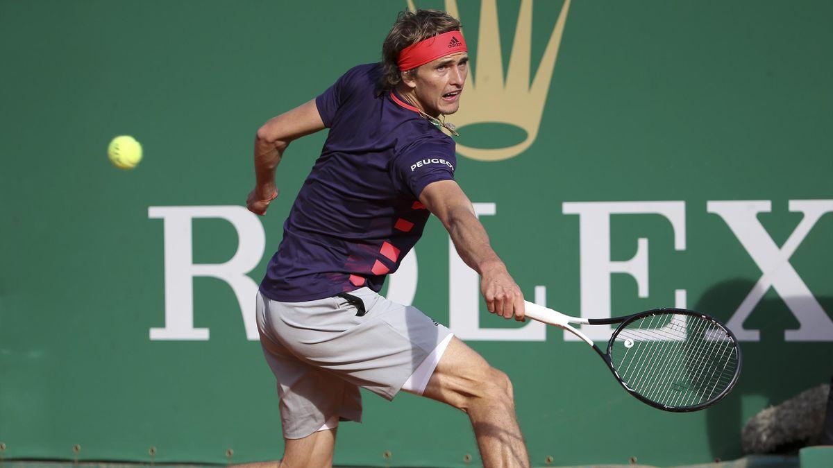 Alexander Zverev beim ATP-Turnier in Monte Carlo