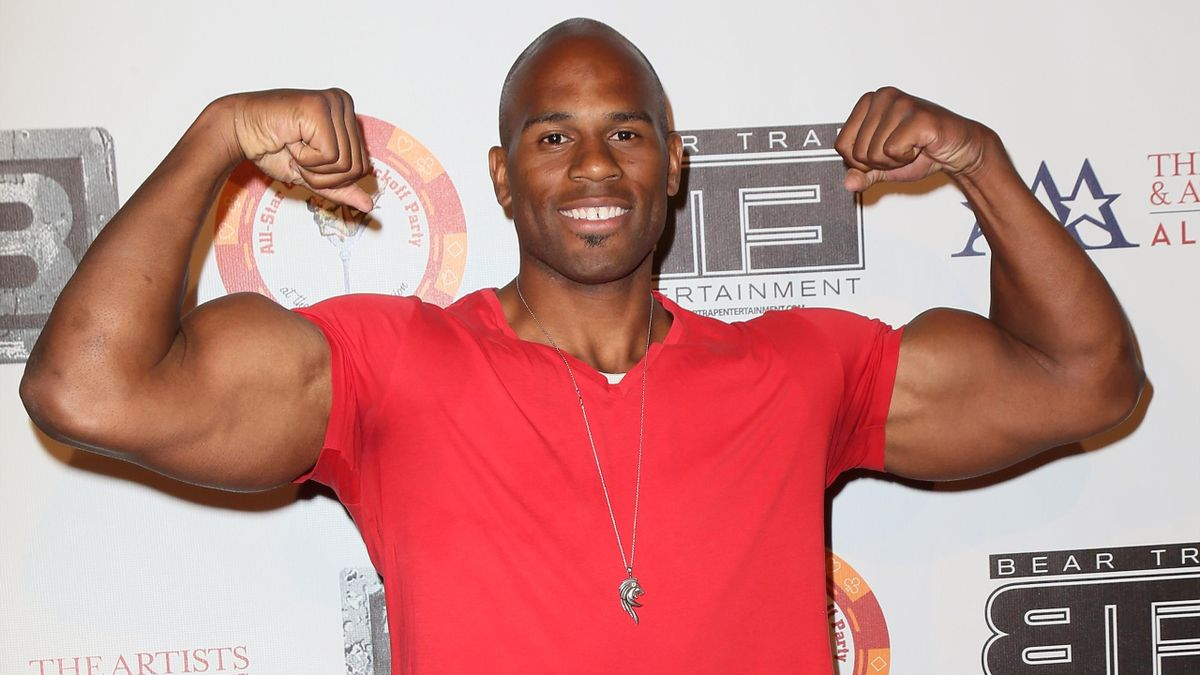 Professional wrestler Shad Gaspard attends the 8th Annual BTE All-Star Celebrity Kickoff Party at the Playboy Mansion on July 15, 2013 in Beverly Hills, California. (Photo by David Livingston/Getty Images)