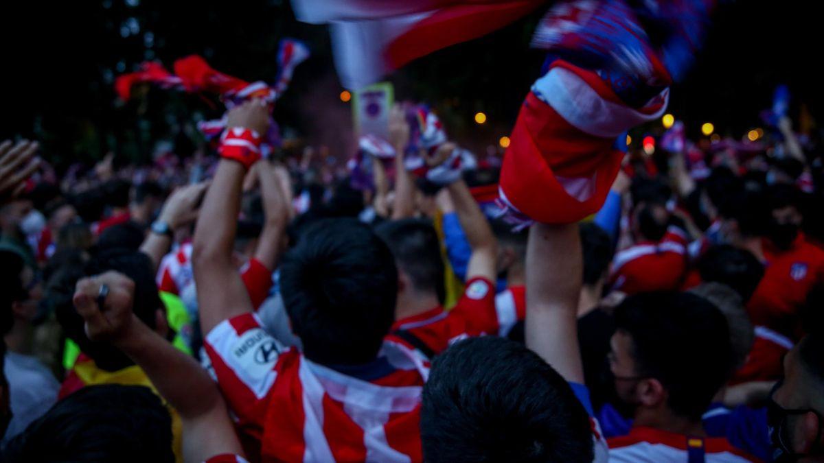 Liga, i tifosi dell'Atletico festeggiano per la vittoria del campionato