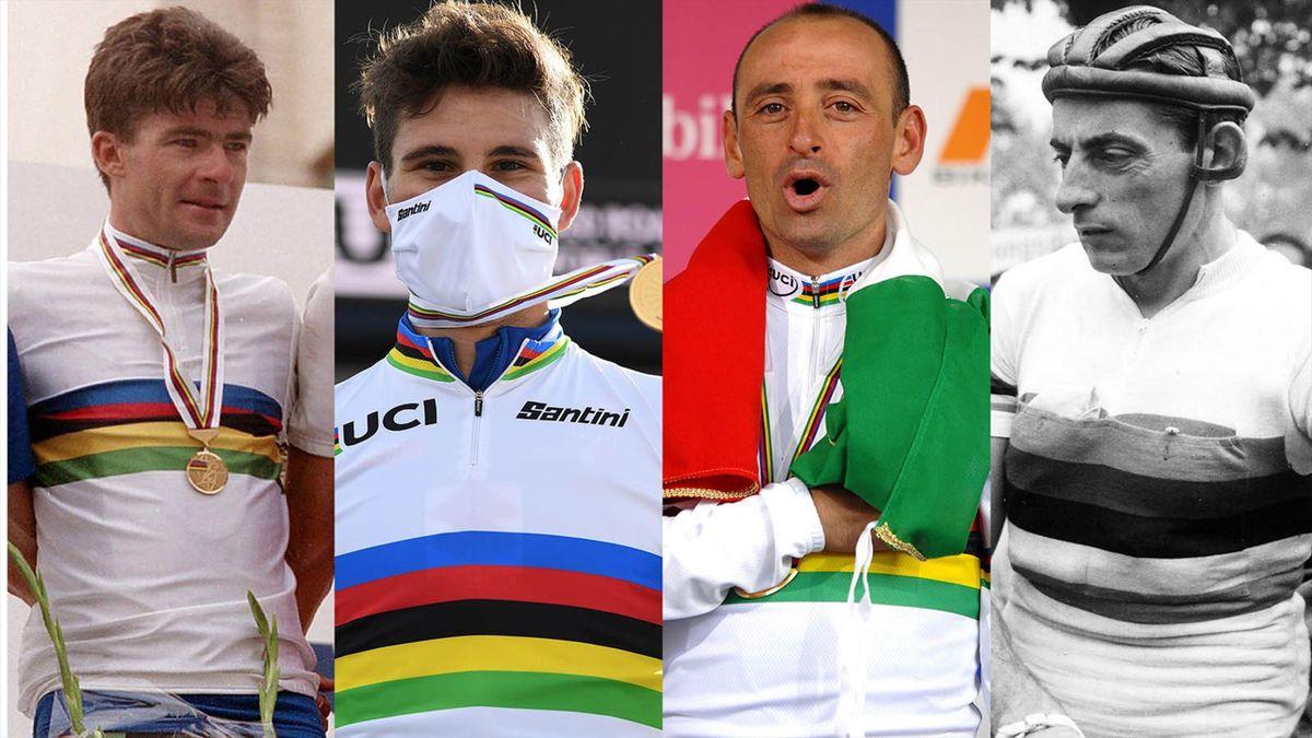 Gianni Bugno, Filippo Ganna, Paolo Bettini e Filippo Ganna